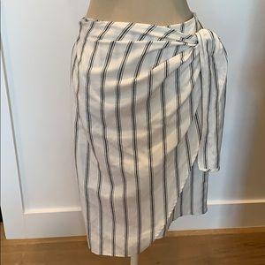 Zara basic wrap skirt